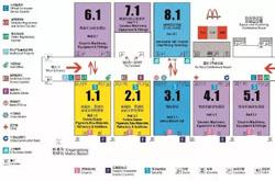 2016广州陶瓷工业展平面展位图表