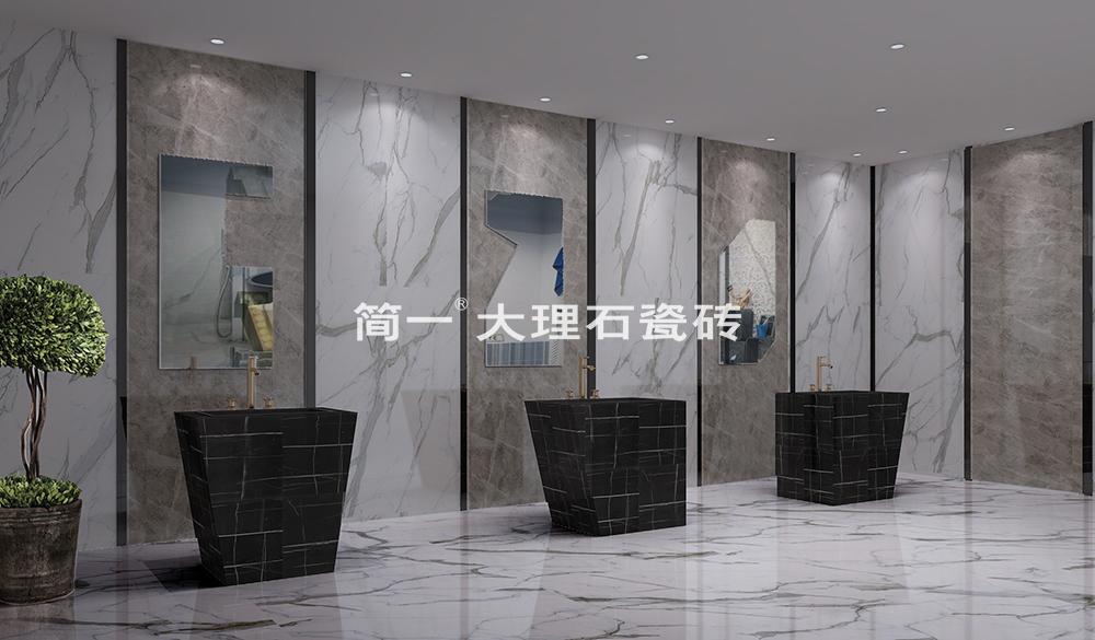 杨君之称简一通体大理石瓷砖实现了纹理、颜色、质感三个一致