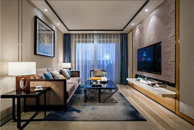 【DHA香港洪德成设计】深圳前海东岸花园样板房:灵动中式,高雅而居