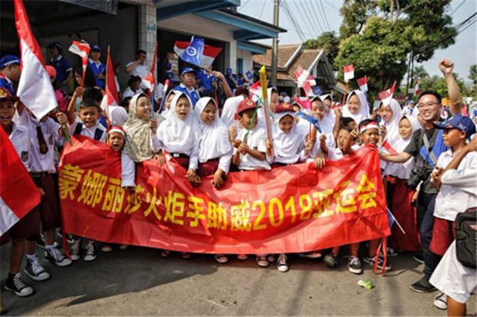 传递亚洲能量!蒙娜丽莎集团助力雅加达亚运会火炬传递