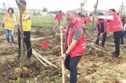 昊晟企业:助力爱心公益植树 为南庄添点绿