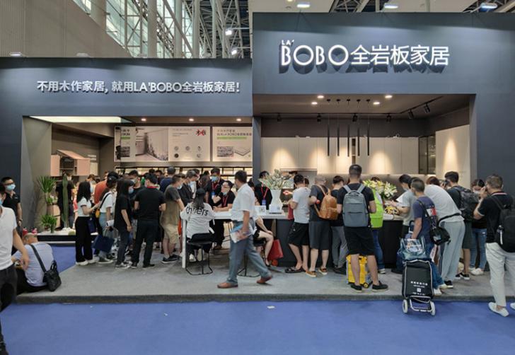现场直击 | LA'BOBO3.3mm超薄岩板亮相广州建博会