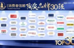 """萨米特瓷砖荣膺""""消费者信赖陶瓷品牌30强""""、""""守合同重信用企业"""""""
